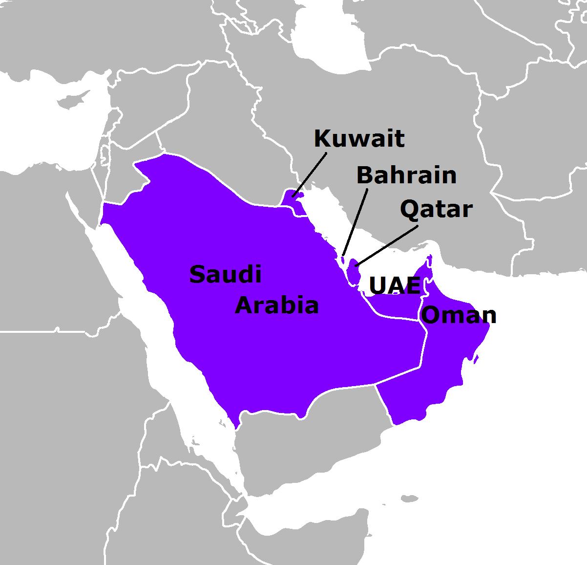 GCC-states-map