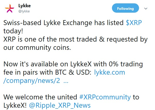 Lykke Exchange Announcement