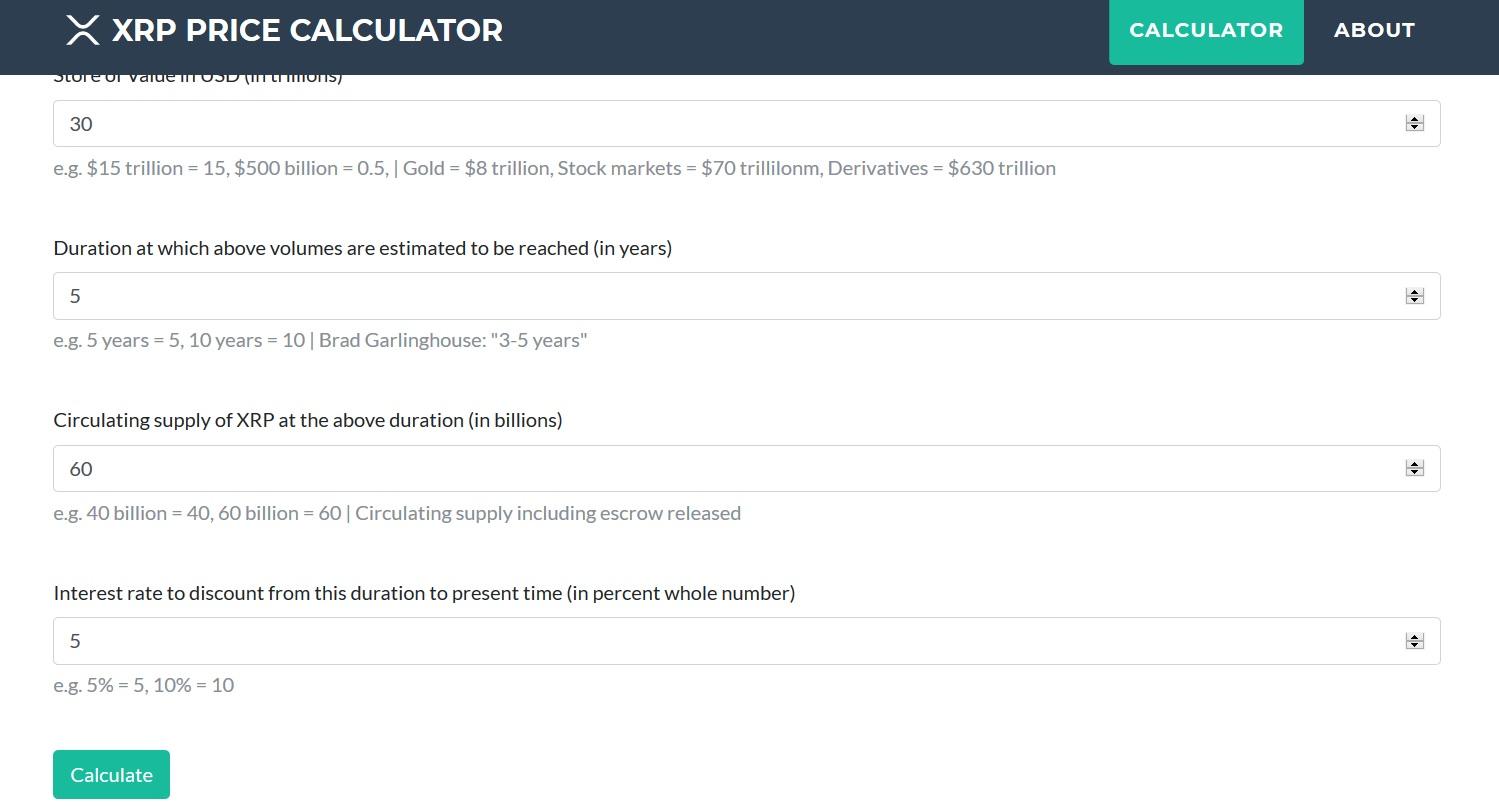 Screenshot of XRP Balance Site
