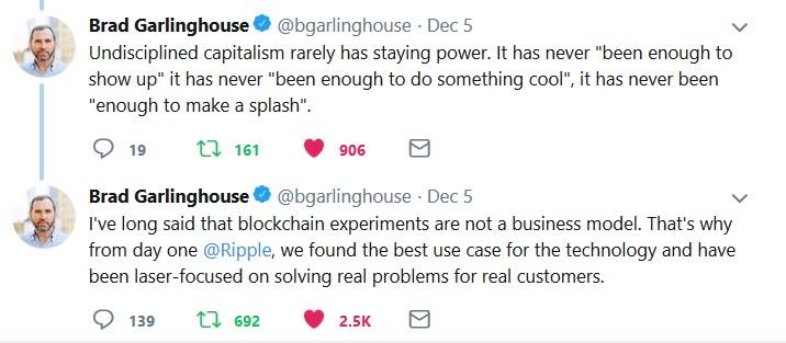 Brad Garlinghouse Tweet