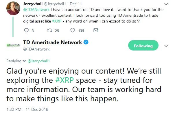TD Ameritrade Tweet