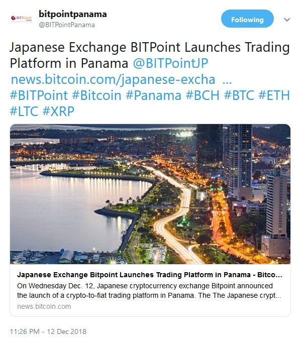 Bitpoint tweet