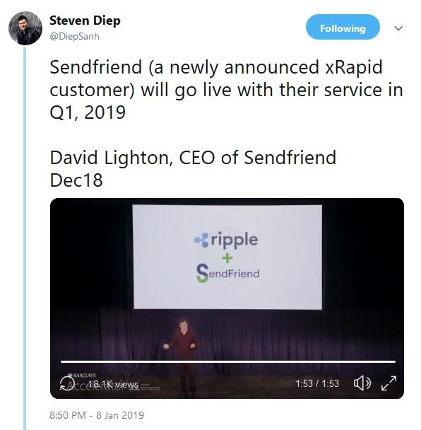 SendFriend Tweet by Steven Diep