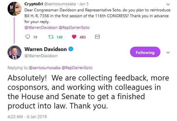 Tweet from Congressman Davidson
