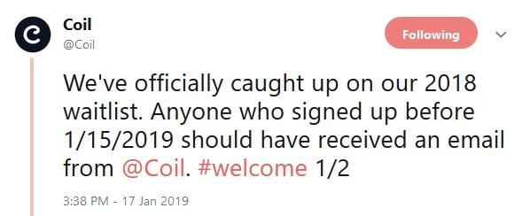 Coil Tweet