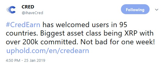 CredEarn Tweet about XRP Investors