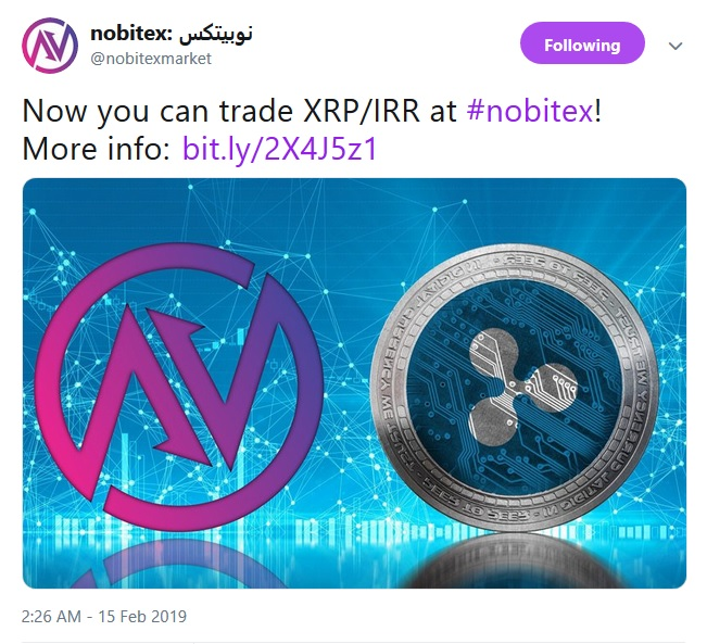 Nobitex Tweet