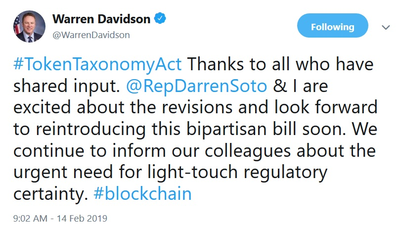 Warren Davidson Tweet