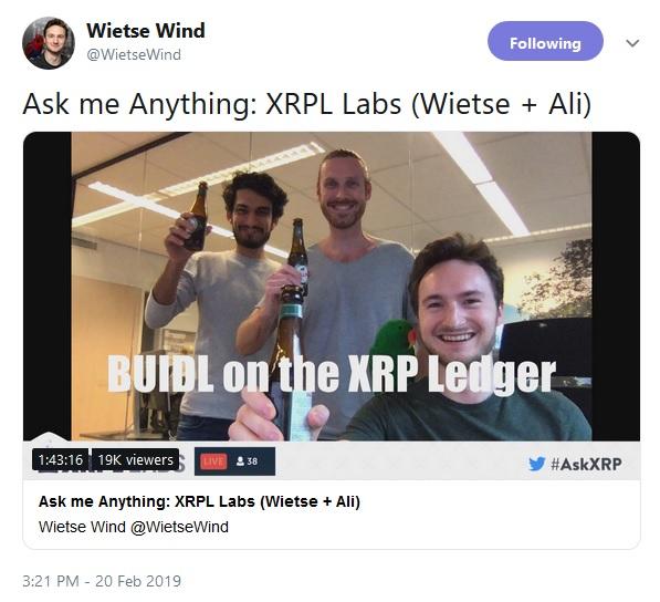 XRPL Labs Tweet
