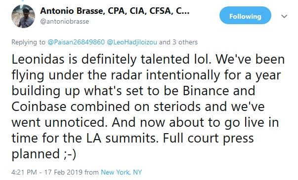 Antonio Brasse Tweet