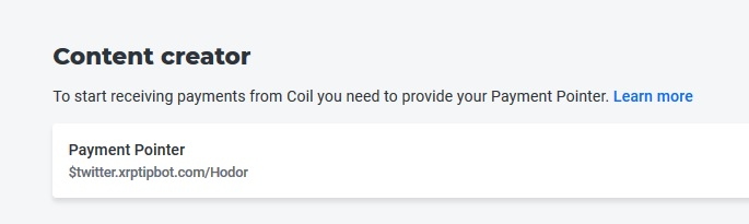 Payment pointer Coil