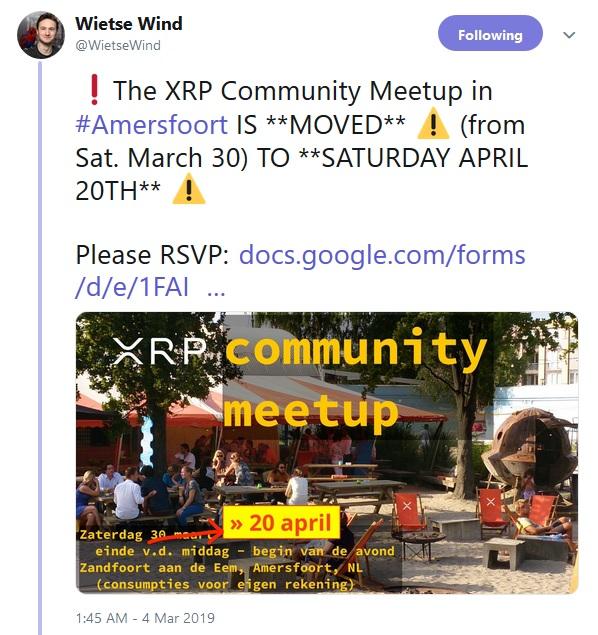 XRP Meetup Netherlands RSVP Link