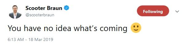 Scooter Brauns Tweet