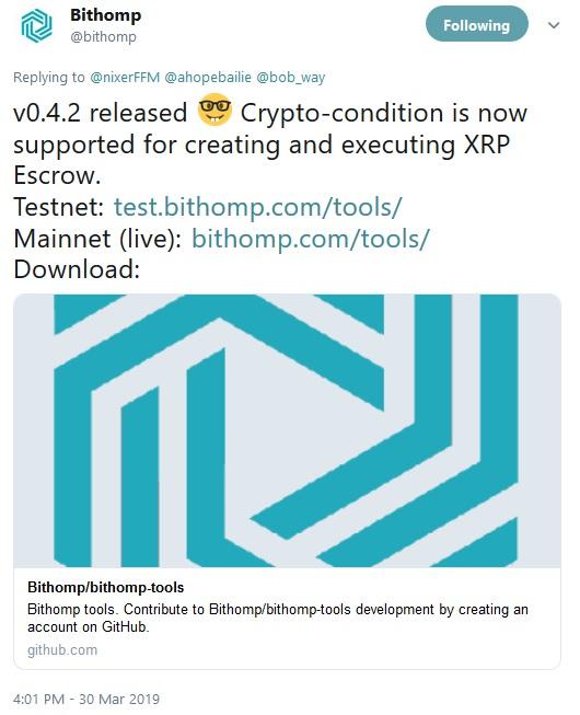 Bithomp Tweet Escrow