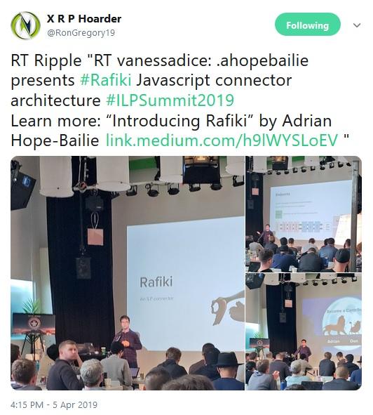 Tweet about ILP summit attendance