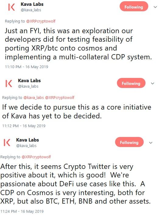 Kava Tweets regarding USDX