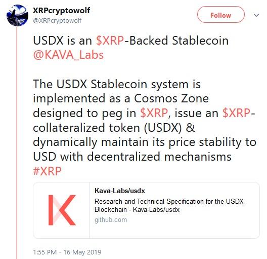 Kava USDX Tweet
