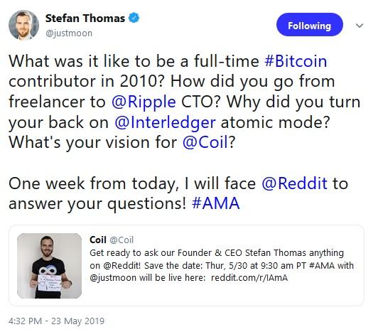 Stefan Thomas Tweet
