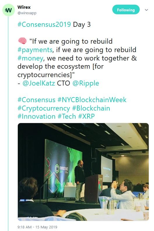 Wirex Tweet