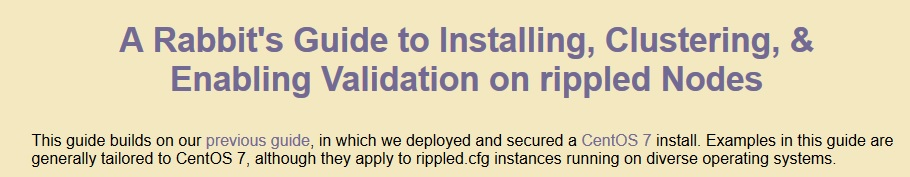 Rabbits Tweet about validator installation guide