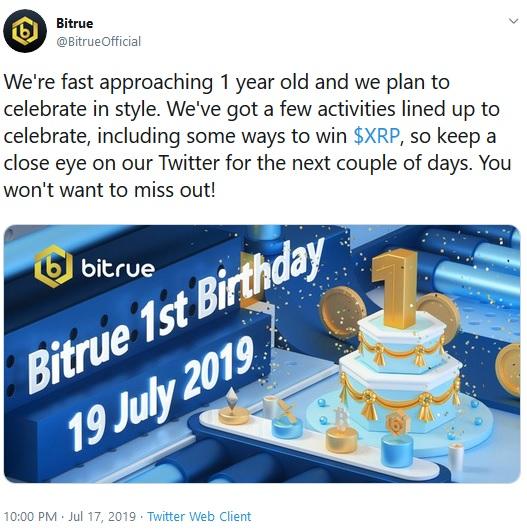Bitrue Tweet