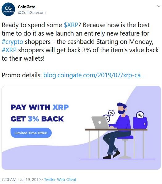 CoinGate Tweet
