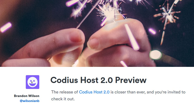 Codius Host two point zero Preview