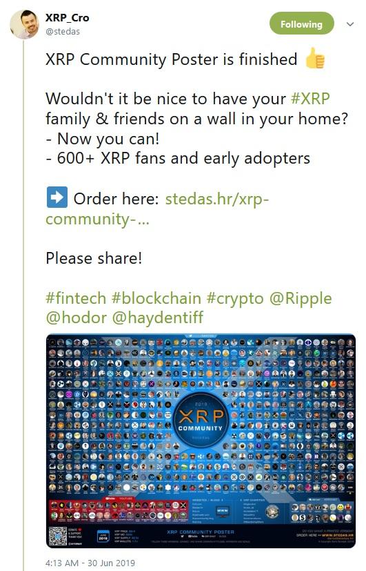 Stedas Tweet about community poster