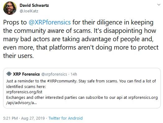 Tweet from David Schwartz