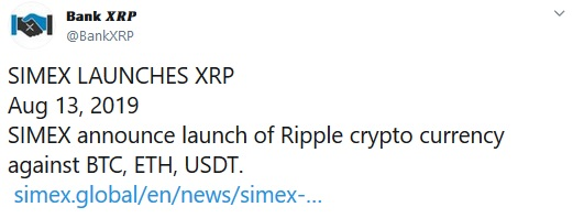 Bank XRP Tweet